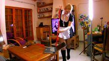 Femme de ménage humiliée au travail dans une baise brutale